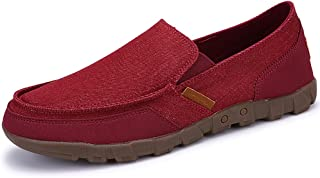 Men's Canvas Slip-on Casual Loafers Moccasin Driving Shoes