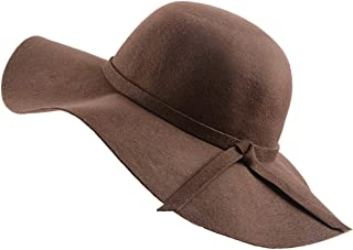Women's Foldable Wide Brim Bowler Cap Fedora Floopy Wool Hat