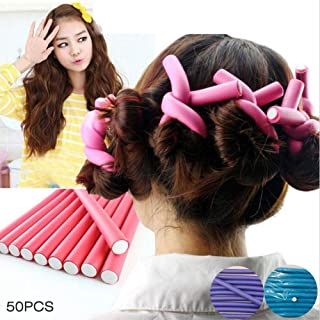 50PCS Curl DIY Hair Curlers Tool Styling Rollers PXiral Circle Magic Roller PX