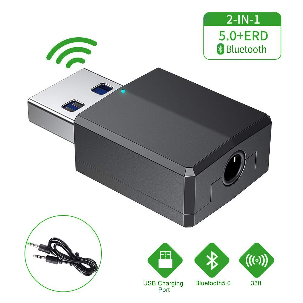Bluetooth USB PC,Adaptador Bluetooth 5.0 USB Dongle,Bluetooth Transmisor y Receptor para PC/TV/Coche/Hogar, Auriculares, Teclado, Mouse y más (marrón): Amazon.es: Electrónica