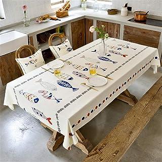 LMWB Bordsskydd, bordsduk, enkel vattentät bordsduk duk konst bomull linne bordsduk bordsduk hushåll-O_130 x 180 cm