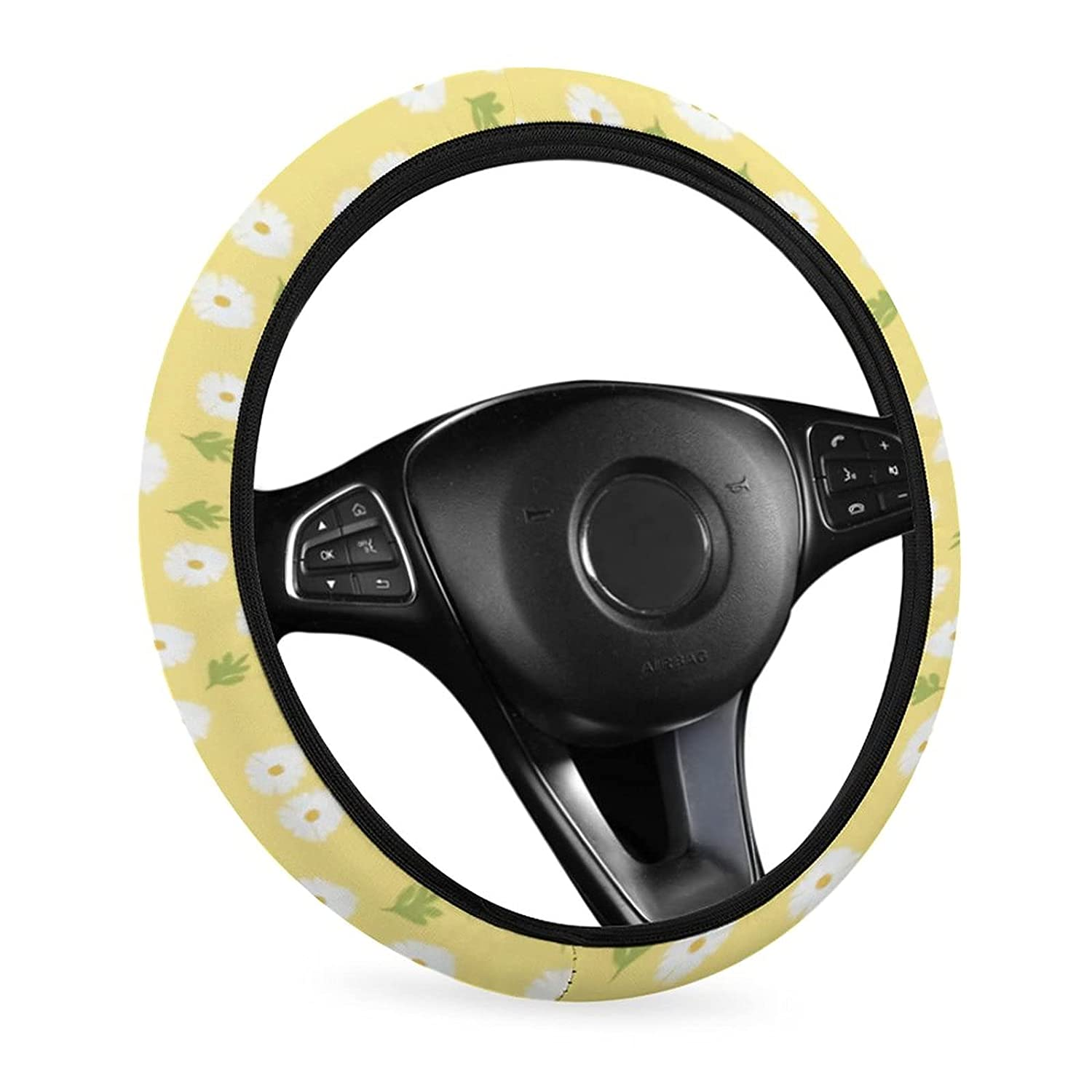 Daisy Car Steering Wheel Covers half for 15 Women sold out Men Universal and I