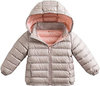 marc janie Girls Boys' Lightweight Packable Hooded Down Puffer Jacket