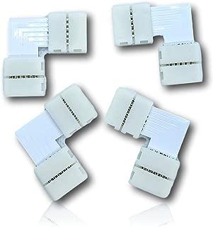 K2 Home Tech 6 PIN- 12mm- RGB CCT LED Strip Corner Connector- 4 Pack…