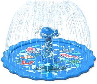 AOLIGE Splash Pad for Kids 68 inch Big Wading Pool Inflatable Sprinkler Outdoor Garden Water Play Mat Toys Fit Kiddie Baby...