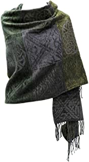 Irish Gift for Women Shawl Wrap Chenille & Wool 71 Inches x 29 Inches Made in Scotland