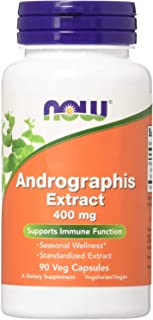 NOW Andrographis Ext 400mg 90 Veg Capsules, 50 g