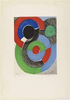 Sonia Delaunay Giclee Print On Paper-Famous Paintings Fine Art Poster-Reproduction Wall Decor(Untitled Terk) #XZZ