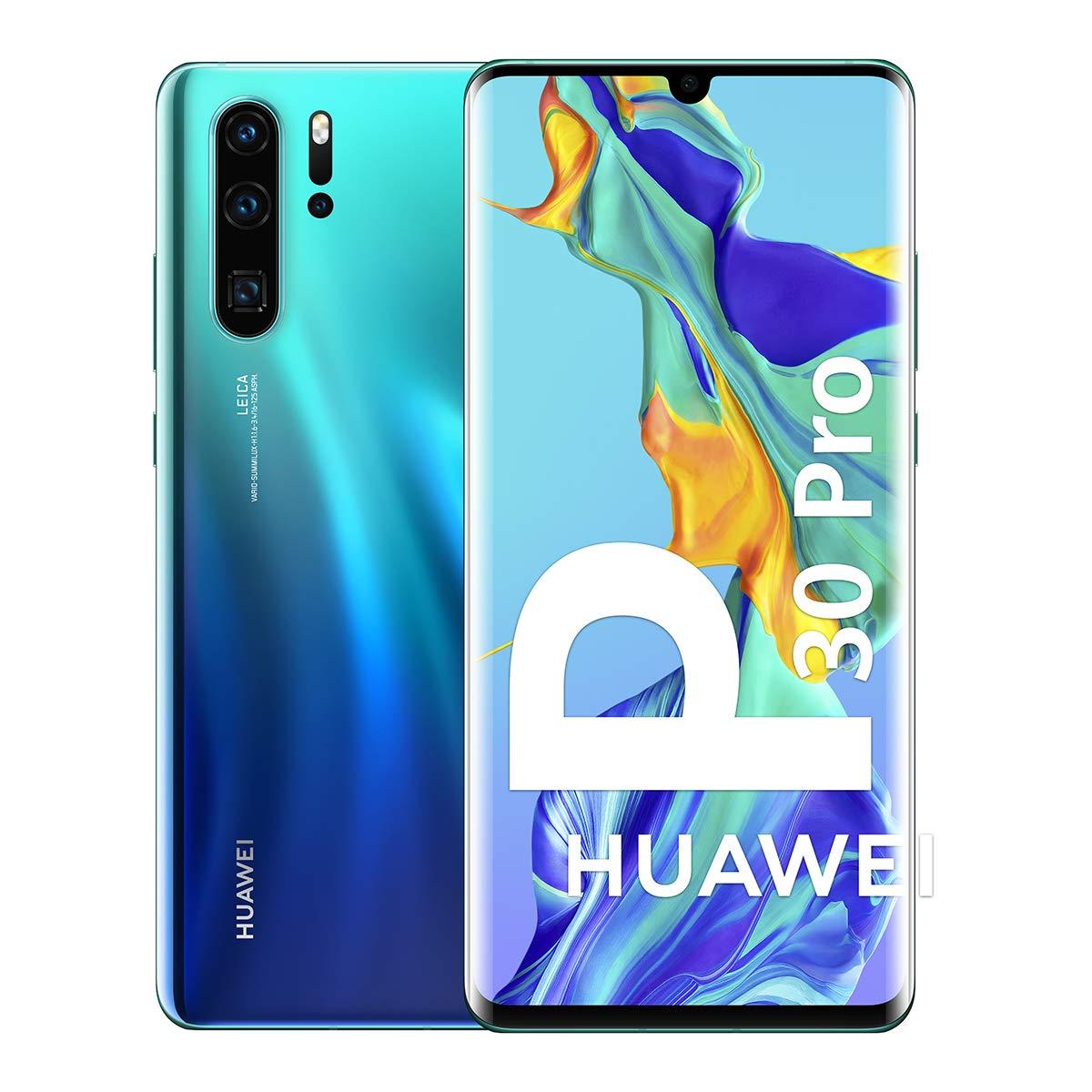 Huawei P30 Pro - Smartphone 128GB, 8GB RAM, Dual SIM, Aurora Blue