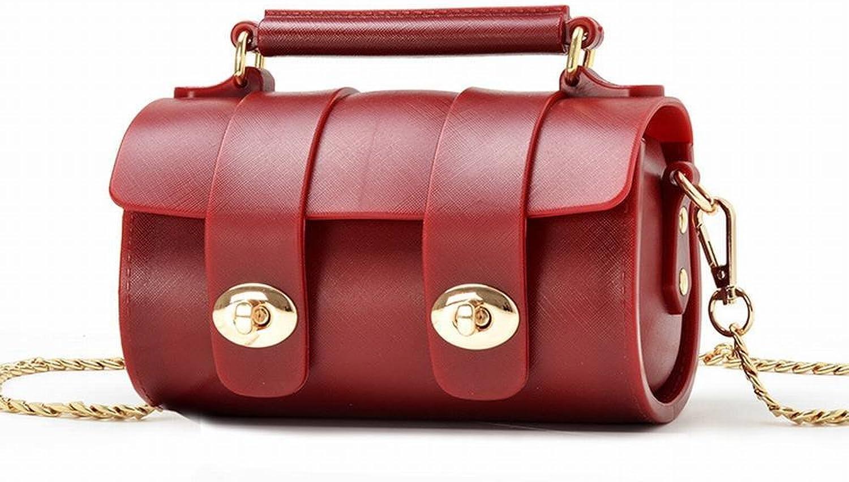 Mode Handtaschen Messenger Tasche Handtaschen Zylinder Boston Boston Tasche Mini Tasche Umhngetasche , rot