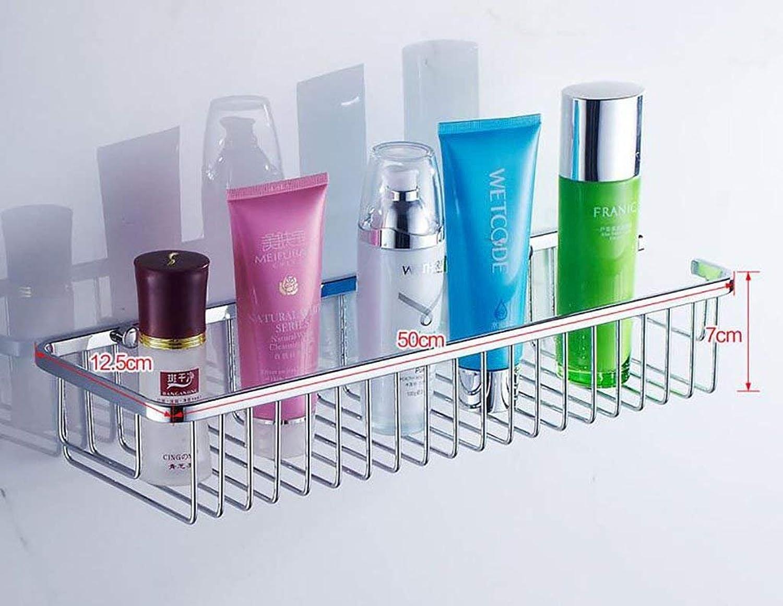 EQEQ Bathroom Shelving Stainless Steel Shelving in Bathroom Toilet Square Showcases Models Storage Rack Bathroom Wall (color  3)