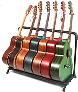 Rack Style Guitar Stand for Multiple Guitars/Bass (7 Stand)