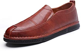 S.Y.M Men Shoes Business Oxford Shoes For Men Formal Shoes Slip On Style PU Leather Leisure Personality Splicing