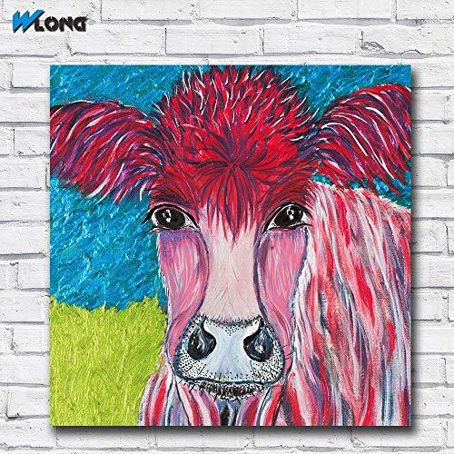 Groot formaat pop olieverf roze kerst kunst canvas kan fotolijst voor woonkamer en slaapkamer 40x40cm zijn