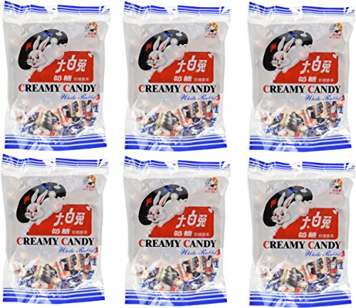 White Rabbit Creamy Candy 6.3 Oz (180 Gram) (Pack of 6)