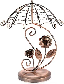 Umbrella Shape Earring Holder Creative Rotating Jewelry Earring Display Stand