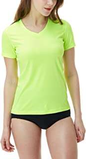 TESLA Women's UPF 50+Swim Shirt Rashguard Long/Short Sleeve FSS FSR Series