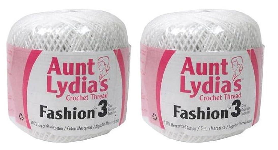 Aunt Lydia's Crochet Thread - Size 3 - (2-Pack) White