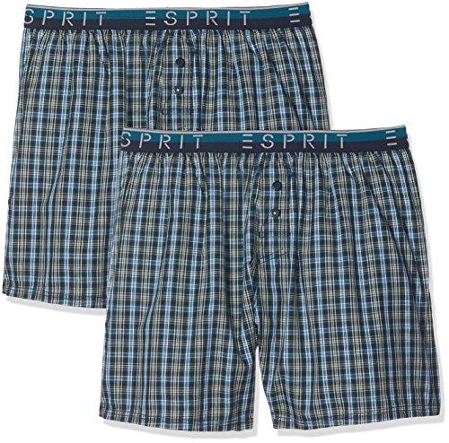 ESPRIT Herren 077EF2T012 Boxershorts, Blau (Teal Blue 455), Large (Herstellergröße:6)