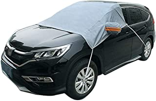 Car Windscreen Cover, Leegoal Windshield Snow Cover with Elastic Hooks Design Anti-Sun Ice Frost Dust Shatter and Wind Proof Fit Most Car