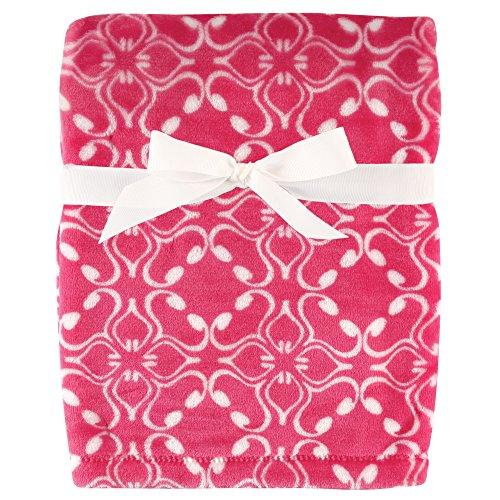 Hudson Baby Unisex Baby Silky Plush Blanket, Blossom, One Size