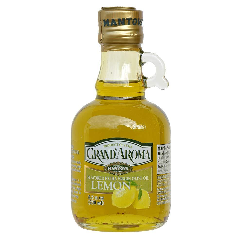 Mantova Grand'Aroma Lemon Flavored Extra Virgin Olive Oil,