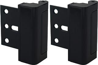 Door Lock for Home Security (2-Pack) - Easy to Install Door Latch Device, Aluminum Construction, Satin Nickel Door Locks f...
