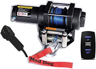 Mad Dog 4500# Synthetic Rope Winch Mount Combo Polaris 2017-2019 1000 Ranger Full-Size Crew 4x4