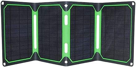 RLQ 25W Portable Solar Panel Backpack Multifunctional Portable Solar Panel Outdoor Folding Solar Charging Treasure for Charging, Hiking and Biking
