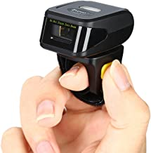 Eyoyo 1D Wireless Ring Barcode Scanner, Compatible with Bluetooth Function & 2.4GHz Wireless & Wired Connection, Portable Wearable Mini Finger Bar Code Reader Work with Windows, Mac OS, Android 4.0+,
