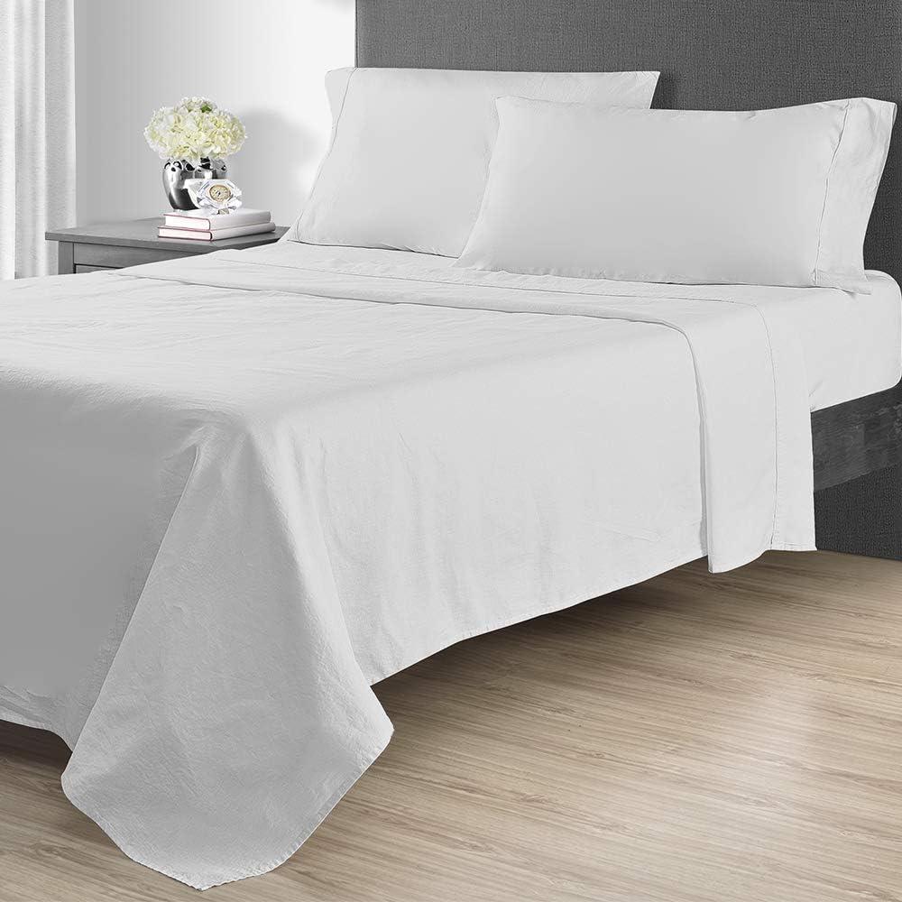 Sunham Max 44% 2021 model OFF Home Fashions 1400 TC Queen Sheet Set White