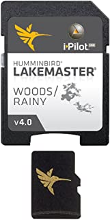Humminbird Lakemaster Woods-Rainy Edition Digital GPS Lake Maps, Micro SD Card, Version 4