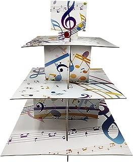 Music Cupcake Stand & Pick Kit, Music Party Supplies, Music Decorations, Birthdays, Cake Decorations, Kids Birthdays, 3 Tier Cardboard
