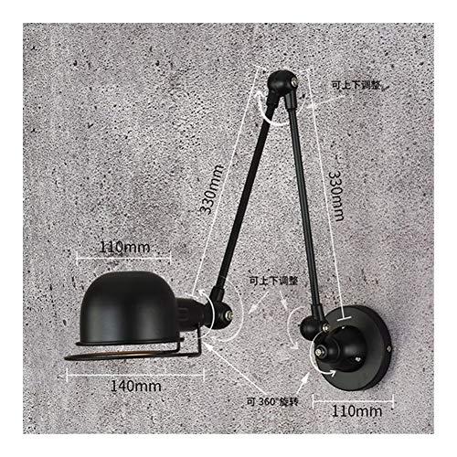 RTRY Luminaria de la Pared rústica de Lámparas de Pared LED de Loft de Vintage Ajustable Lámpara de Pared de escoce for iluminación for el hogar Sala de Estar de la Cama