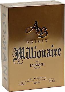 AB Espírito Millionaire por LOMNI Colônia para homens 3,3 onças / 100 ml EDT Spray de