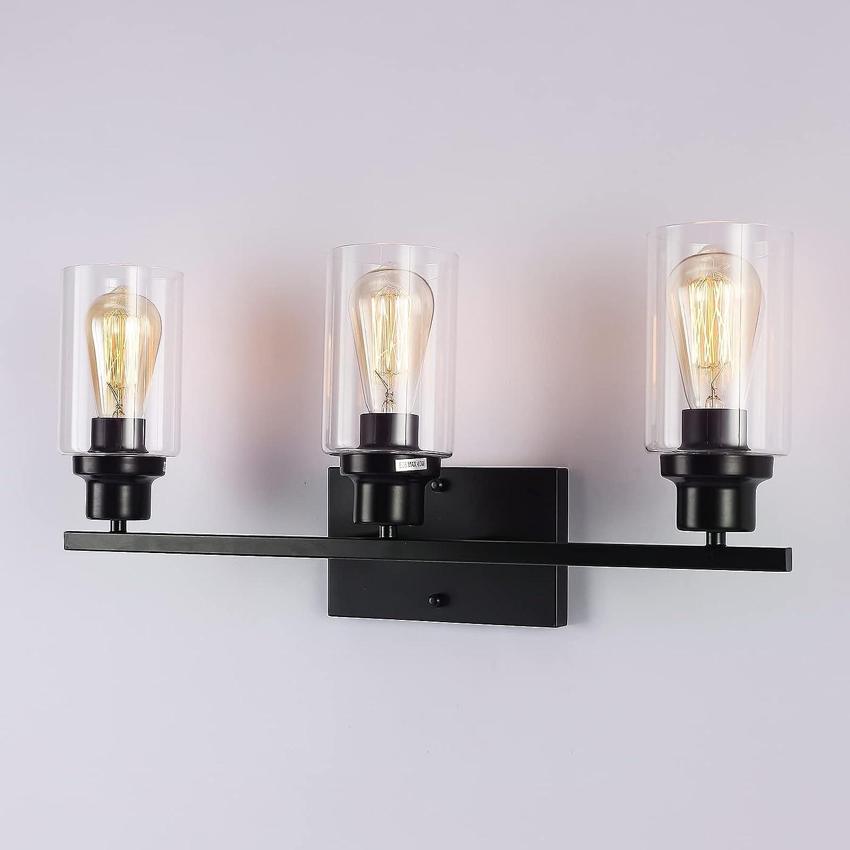 Bathroom Light Fixtures 3 Detroit Mall Black Lights Wall Bed Sconces Genuine Lighting