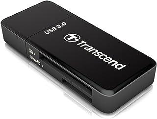 Transcend USB 3.0 Super Speed カードリーダー (SD/SDHC UHS-I/SDXC UHS-I/microSDXC UHS-I 対応) ブラック 2年保証 TS-RDF5K