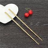 Rose gold chopsticks,chopsticks gold,1 Pair Titanium Plating Gold Chopsticks Food Sticks Chinese Reusable Stainless Steel Metal Chop Stick Hashi Tableware For Gifts,gold plated chopstick(gold)
