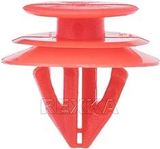 Rexka 20pcs Upper Quarter Trim Lower Overhead Console Clip Red Nylon 90467-09240 for Toyota Lexus Tacoma Camry C-HR Prius