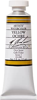 M. Graham 1/2-Ounce Tube Watercolor Paint, Yellow Ochre