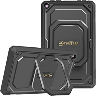Fintie Shockproof Case for All-New Amazon Fire HD 8 (7th and 8th Generation Tablets, 2017 and 2018 Releases) - [Tuatara Magic Ring] [360 Rotating] Multi-Functional Grip Stand Carry Cover, Black