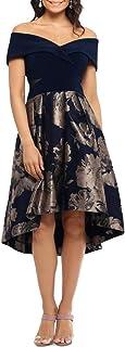 Xscape NEW Black Womens Size 6P Petite Cold Shoulder Lace Sheath Dress $189 065