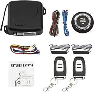 $53 » Car Alarm Remote Control PKE Car Keyless Entry Engine Start Alarm System One Push Button Remote Starter Stop (X1)