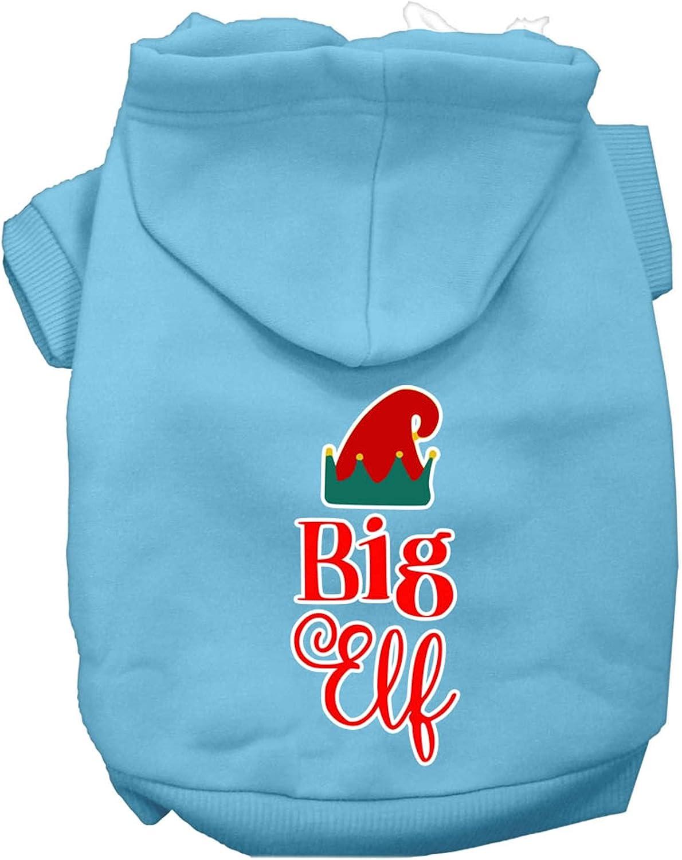 Mirage Pet Product Big Elf OFFer Fashion Screen Hoodie Print Dog Baby Blue XXL