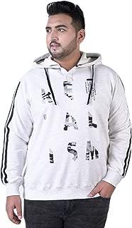 JOHN PRIDE Men's Plus Size Hood Neck White Pullover Sweatshirt