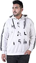 JOHN PRIDE Men's Plus Size Hood Neck White Pullover Sweatshirt
