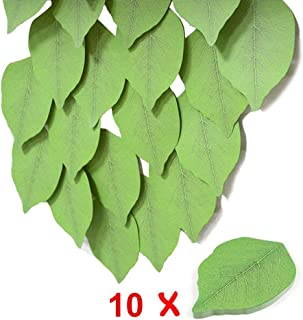 10PACK Fyess Leaf Sticky Notes Memo Pad, Creative Simulate Tree Leaf Paper Sticky Pads Nifty Label, Memo Notes, Sticky Note, Self-Stick Note Pads.(50 Pages/Set x 4 Sets)