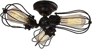 Huahan Haituo Industrialny Edison Retro Vintage lampa ścienna z 1/2/3/4/5 żarówkami w stylu retro rustykalny kinkiet (czar...
