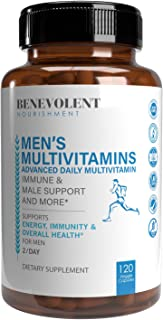 Multivitamin for Men - Supports Energy & Overall Male Health - Essential Daily Vitamins for Men, Biotin, Magnesium, Zinc &...