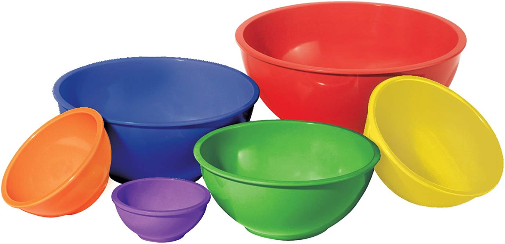 Oggi 5278 Melamine 6 Piece Mixing Bowl Set Assorted Color
